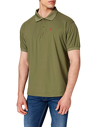Fjällräven Herren Crowley Pique Polo Shirt, Light Olive, L