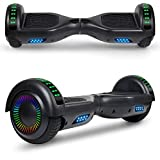 UNI-SUN 6.5' Chrome Hoverboard for Kids, Two Wheel Electric Scooter, Self Balancing Hoverboard with Bluetooth and LED Lights for Adults, UL 2272 Certified Hover Board(Bluetooth Blue)