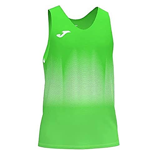 Joma Elite VII Camiseta Running sin Mangas, Hombre, Verde Fluor, XL