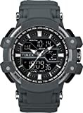 Timex Men's TW5M22600 Tactic DGTL Big Combo Dark Gray/Negative Resin Strap Watch