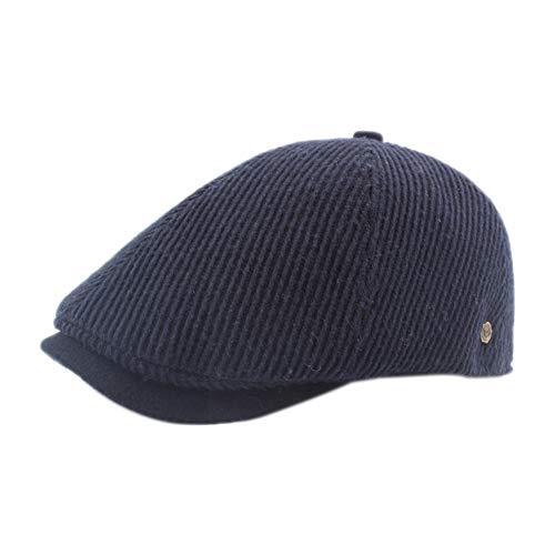 Collana Cappello di Punto Invernali di Gli Uomini Graffi Coppola Calda Monocromatico T Cappello Blu Scuro 56-60cm