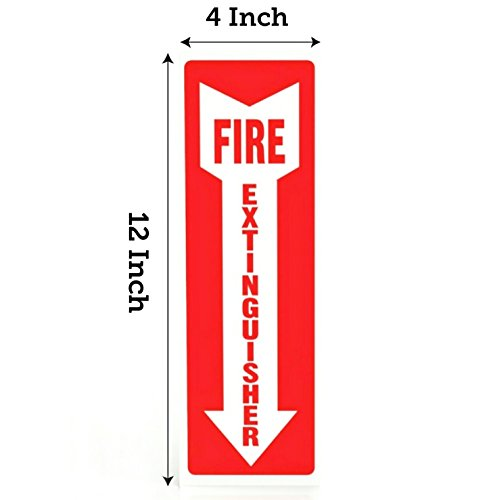 Fire Extinguisher Signs, Safety Sign Sticker - 8 Pack - 4