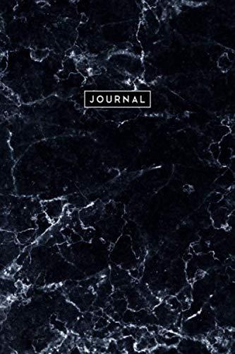 Journal Marmor Schwarz: Notizbuch Punktraster (Dotted) I Schwarzes Marmordesign I Tagebuch I Notizen I Composition Notebook I A5 I 160 Seiten I Edles Design