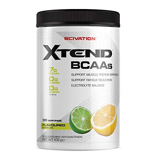 XTEND Original BCAA Powder Lemon Lime | Suikervrij BCAA-supplement met Elektrolyten voor Herstel en Hydratatie | 7 g BCAAs for Men & Women | 30 Doseringen