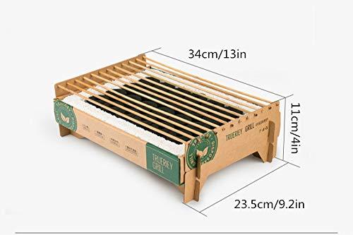4116JKhyKvL - ndegdgswg einweg-Grill, Rauchfreies Picknick Im Innenbereich, Einfach Und Kompakt, Tragbar, 34 * 11 * 23,5 cm / 13 * 4 * 9,2 Zoll