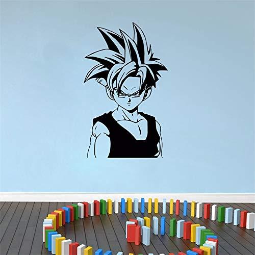 yaofale PVC-Pegatinas de Pared-Super Saiyan Pegatina de Pared de Vinilo Siete Cuentas Anime Pegatina de Pared Art Deco extraíble Dibujos Animados decoración del hogar Pegatina de Pared