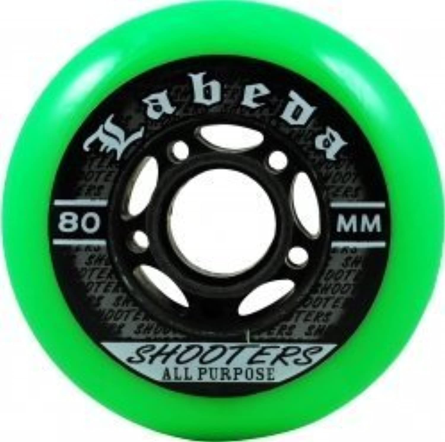 LABEDA Wtalons Inline Roller Hockey SHOOTER 80mm 83A x8 by Labeda