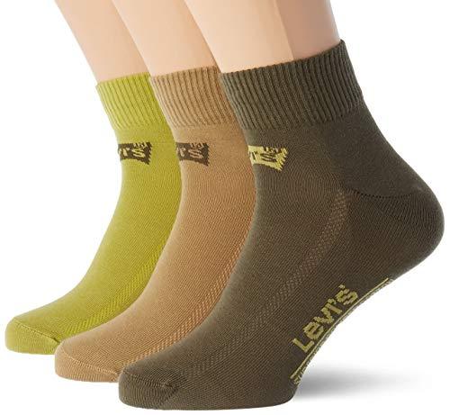 Levi's Unisex Mid Cut Batwing Logo Socken, Poudre, 43/46 (3er Pack)