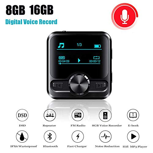 Lyclyb Mini USB Digital Audio Voice Recorder Professioneel OLED-scherm MP3-speler Bluetooth Radio E-Boek Dictaphone