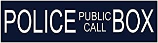 Bumper Planet - Bumper Sticker - Police Public Call Box (Dr. Who) - 2.75 x 10 inch - Vinyl Decal Professionally Made in USA