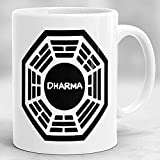 MWKL Bienvenido a Personalizar Lost Mug Taza Dharma con Iniciativa Blanco 40 g