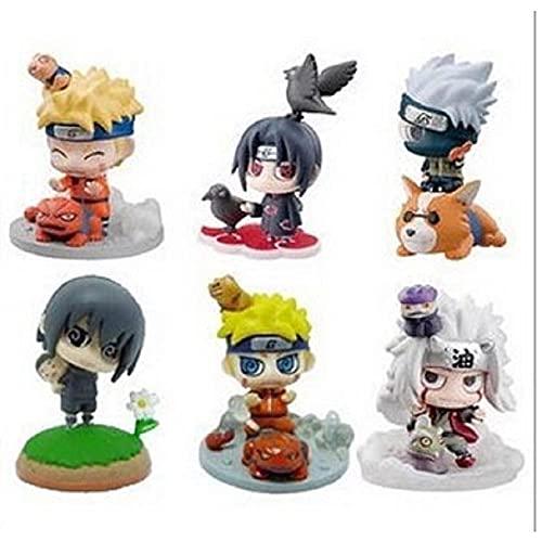 6 Pièces/Ensemble de Q Versión 5 cm Personal D'Animation Naruto Poupée Mobile Jouet Jouet D'Animation De Noël