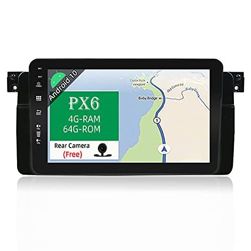 JOYX PX6 Android 10 Autoradio Passt für BMW E46 3er M3 320 325 Rover75 MG ZT In Dash Navigation | Rückfahrkamera Canbus KOSTENLOS | 4G+64G | 8 Zoll 1 Din | MIT 4G WiFi DAB BT4.0 HDMI 4K-Video Carplay