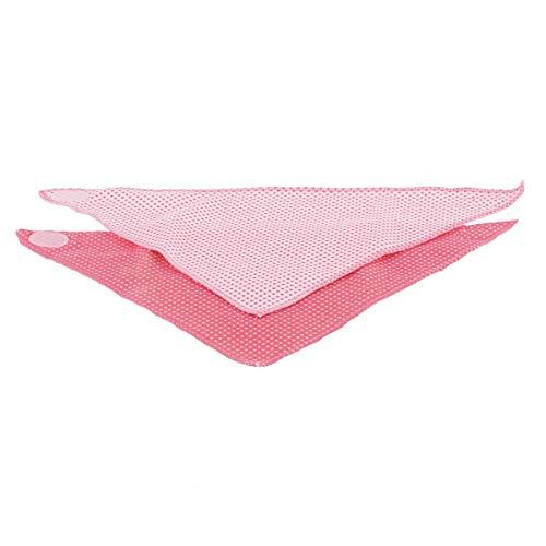 Bieco 38013216 - driehoekige sjaal meisjes roze, set van 2
