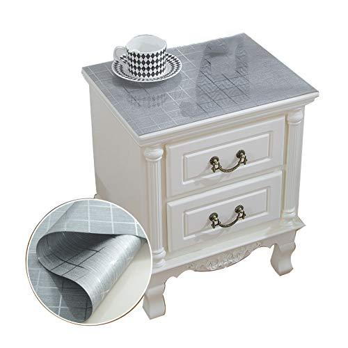 SDAFD Paño de Mesa Transparente Cuadrado, Mesa de Cama de plástico PVC de plástico Paño de Tabla/Mesa de Noche/Muequillo de TV Paño/Tapa de Polvo 03-40 * 50cm
