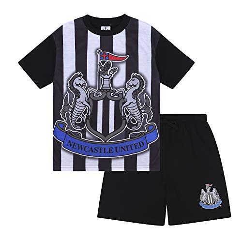 Newcastle United FC Official Gift Boys Sublimation Short Pajamas 10-11 Years White