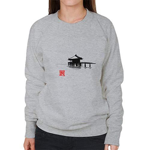 Cloud City 7 Small Island Hoed Black Ink Women's Sweatshirt