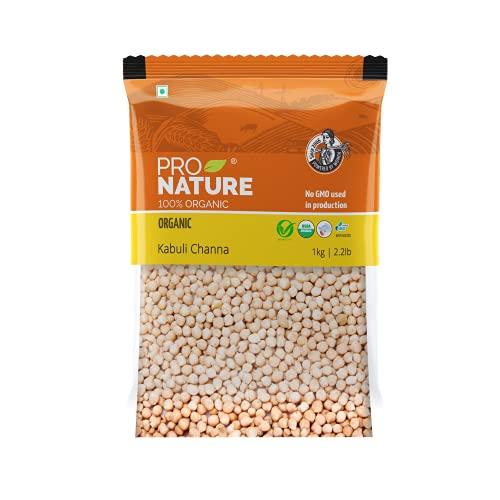 Pro Nature 100% Organic Kabuli Channa, 1kg