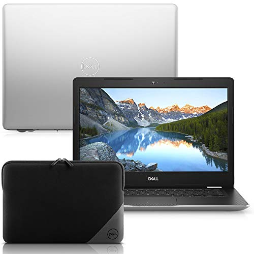 """Notebook Dell Inspiron i14-3481-M40SC 8ª geração Intel Core i3 4GB 128GB SSD 14"""" Windows 10 Prata + Capa 15.6"""""""