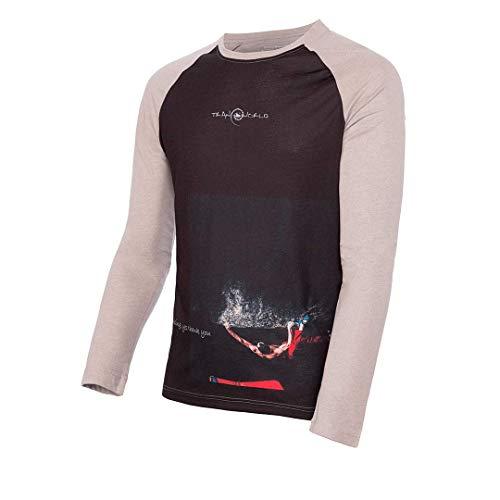 Trangoworld Gabo T-Shirt, Homme L Noir/Gris foncé