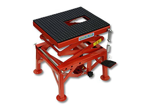 WilTec 300lb 135kg Hydraulic Motorcycle Workbench Lift Bike ATV Stand Jack Table Bench