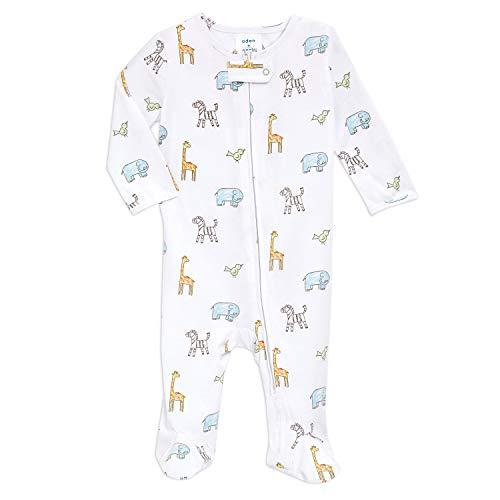 aden + anais Pijama de punto para bebé, de una pieza, de manga larga, para recién nacidos y...