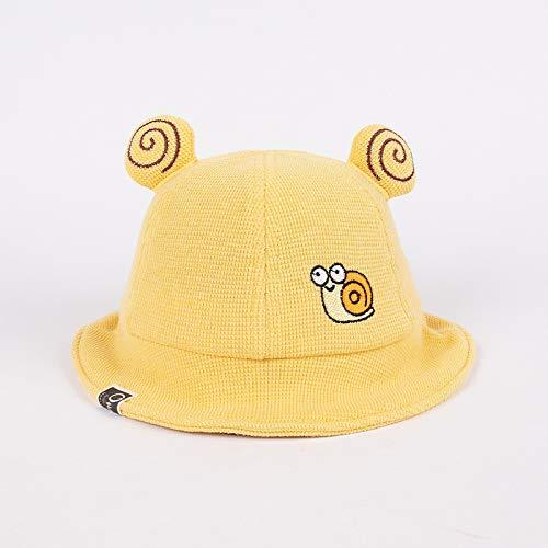 wopiaol Sombrero para niños Modelos de otoño e Invierno algodón Grueso y cálido Sombrero de Pescador para bebés Sombrero de bebé con Orejas de Caracol de Dibujos Animados Coreanos