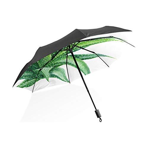 Mädchen Regenschirme Für Regen Stacheldraht Grüne Pflanze Aloe Tragbare Kompakte Taschenschirm Anti Uv Schutz Winddicht Outdoor Reise Frauen Große Totes Regenschirm