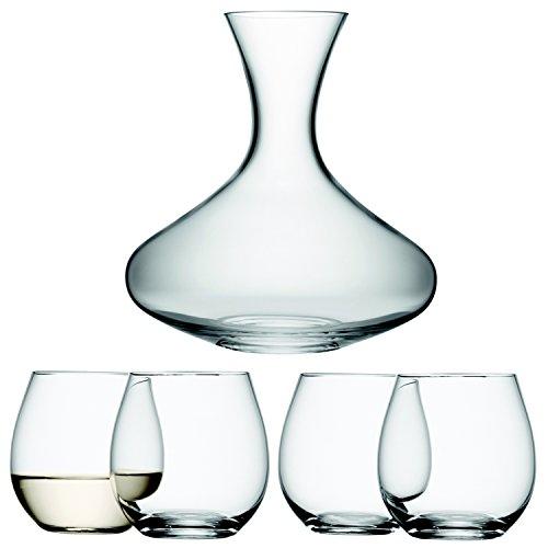 LSA 1.5L caraffa per vino e bicchieri bicchieri per vino bianco