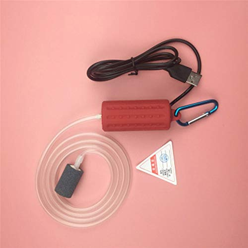 AAJTCT Aquarium luchtpomp Aquarium mini-USB-zuurstof-luchtpomp met accessoires steen terugslagklep buis mute-energiebesparende behoeften aquarium accessoires # voor Bowl