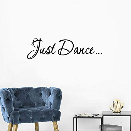 N\A Citas de Baile Refranes Pegatinas de Pared Vinilo Inspiradoras Palabras Letras decoración de la habitación calcomanías extraíbles Mural de Estudio de Baile
