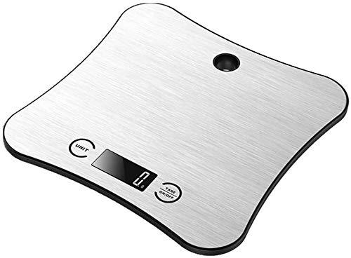 LLDKA roestvrijstalen keukenweegschaal, 5 kg, hoofdbak, keuken, elektronische weegschaal, zegt draagbare elektronische weegschaal, koffie