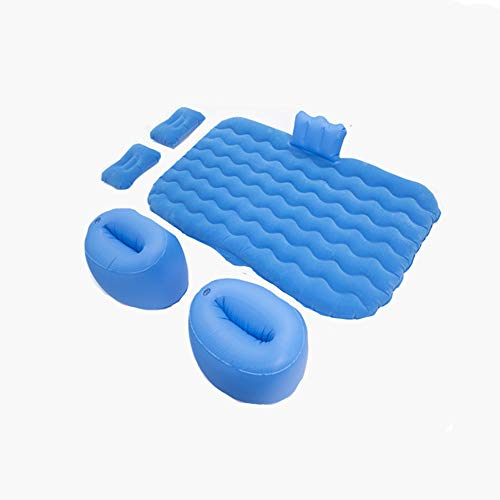Liangzi Inflatable Car Air Mattress, Removable Backseat Air Bed with Air-Pump, Portable Car Travel Bed with Two Pillows Fits Most Car Models for Camping Travel Other Outdoor Activities