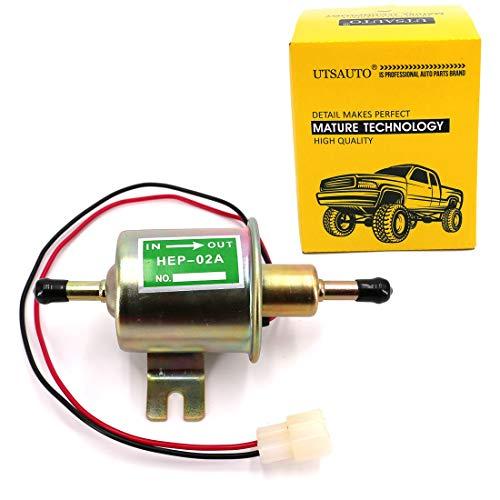 UTSAUTO Electric Inline Fuel Pump 12V Low Pressure Gas Diesel Lawnmower Fuel Pump 2.5-4 PSI Engine HEP-02A Michigan