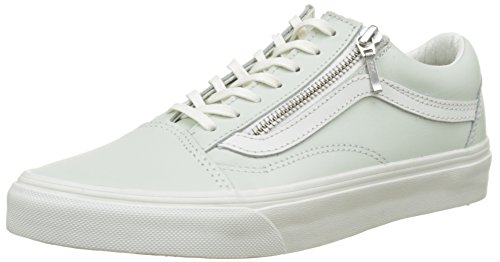 Vans Damen Ua Old Skool Zip Sneaker, Blau (Leather Zephyr Blue/Blanc De Blanc), 36 EU