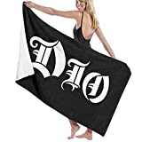 Ewtretr Toalla de Playa DIO Logo Beach Towels Ultra Absorbent Microfiber Bath Towel Picnic Mat for Men Women Kids Hotel Home Ideas Decoration