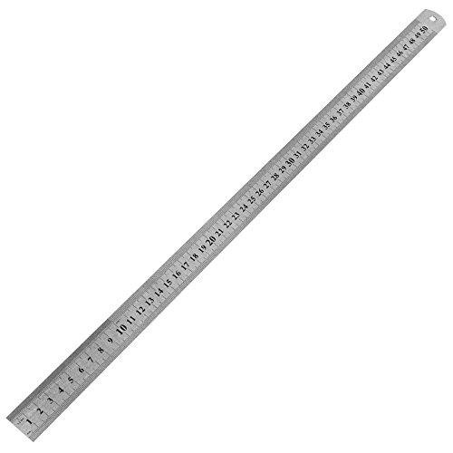 50 cm Stahllineal Stahlmaßstab Metalllineal Lineal 500mm Werkstattlineal