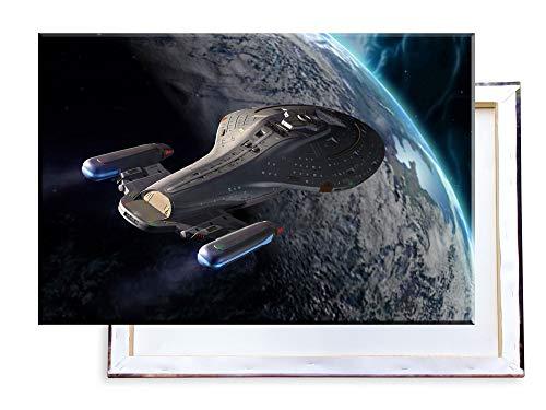 Unified Distribution Star Trek Voyager - 60x40 cm Kunstdruck auf Leinwand • erstklassige Druckqualität • Dekoration • Wandbild