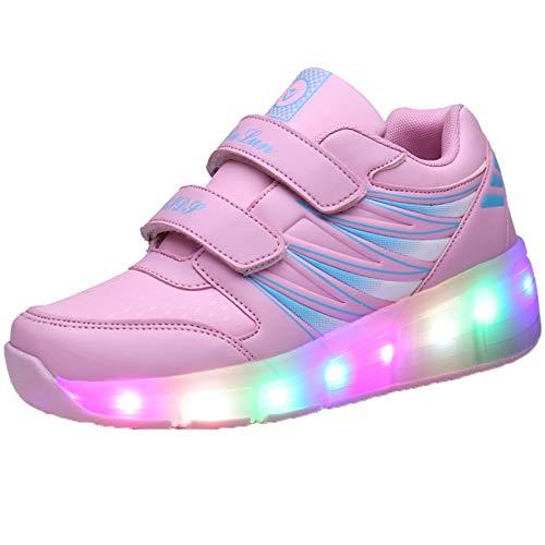 Zapatos con luz LED para niños, Zapatos Deportivos de una Rueda, Zapatos para Correr LED Luminosos para niños y niñas