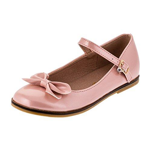 Dorémi Festliche Kinder Mädchen Ballerinas Schuhe für Partys und Freizeit in vielen Farben M297rs Rosa Gr.30
