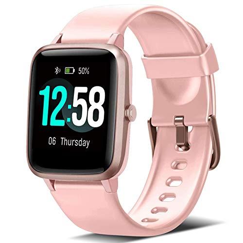 Blackview Smartwatch Orologio Fitness Uomo Donna Impermeabile 5ATM Smart Watch Cardiofrequenzimetro da Polso Contapassi Smartband Activity Tracker Bambini Cronometro per Android iOS