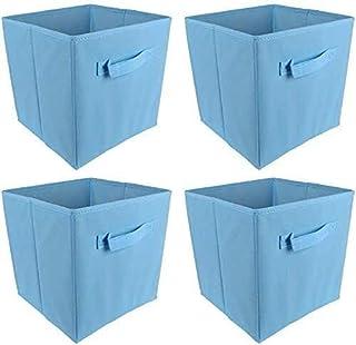 YANJ Boîtes de Rangement Pliables Ensemble de Cubes avec poignée Paniers de Tissu Organisateur Pliable pour la lavabole, J...