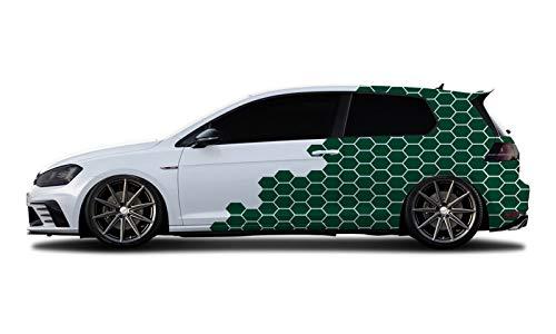 WRAP-SKIN Camouflage Cyber Pixel Aufkleber Auto Tuning Komplettset 2 x WS-01-00-10005 661 Blattgrün Glanz