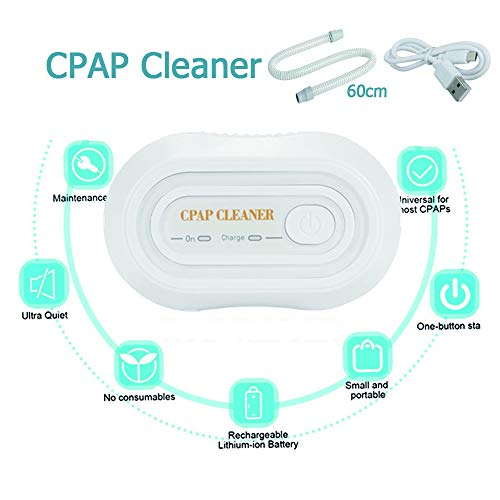 DNNAL CPAP-Reiniger,Tragbare Reiniger Desinfektor Anzüge für CPAP-Maschine Mask-Schlauchleitung CPAP Luftröhren reinigen