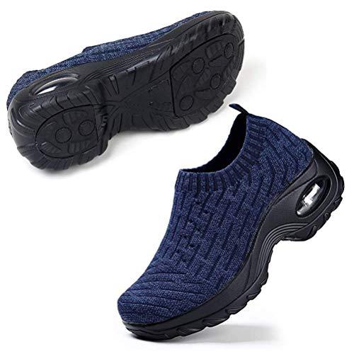 HAOSHIDUO Zapatillas Calzado de Caminata para Mujer Flats Calzado Sanitario y de hostelería para Mujer