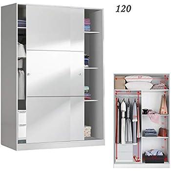 HABITMOBEL Armario de Oficina 2 Puertas correderas 120 con Fondo reducido de 50 cm (CAJONERA INCLUIDA): Amazon.es: Hogar