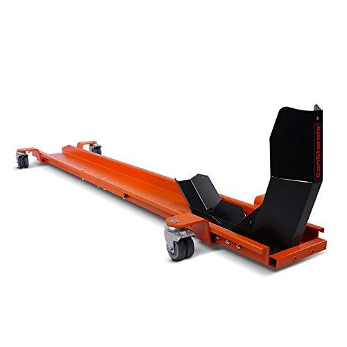 ConStands Smart Mover - Rangierschiene mit Wippe Orange bis 450 kg Rangierhilfe Rangierwagen Motorrad