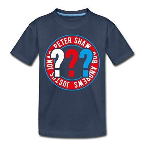 Die DREI Fragezeichen Kids Logo Kreis Kinder Premium T-Shirt, 122-128, Navy