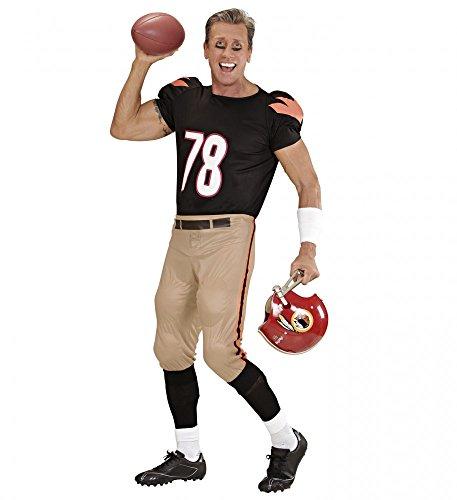 shoperama Herren Kostüm American Football Player Shirt und Hose mit Polstern Quaterback Sportler Spieler, Größe:XL