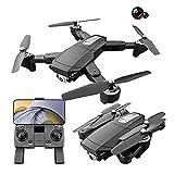 Dron con cámara dual de 6k, dron plegable para niños y adultos, helicóptero de cuatro ejes adecuado para principiantes, retención de altura, sígueme, niño niña y juguete de control remoto para adulto